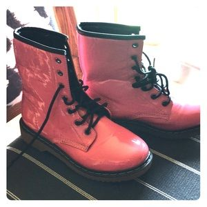 Paradise Pink Wet Seal Moto Boots!! (Combat style)